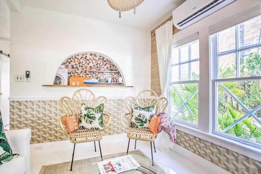 tangerine dream tropical sitting area